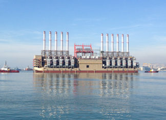 Power barge, unable to dock, Jiyyeh