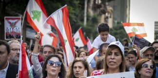 banks lebanon crisis protest
